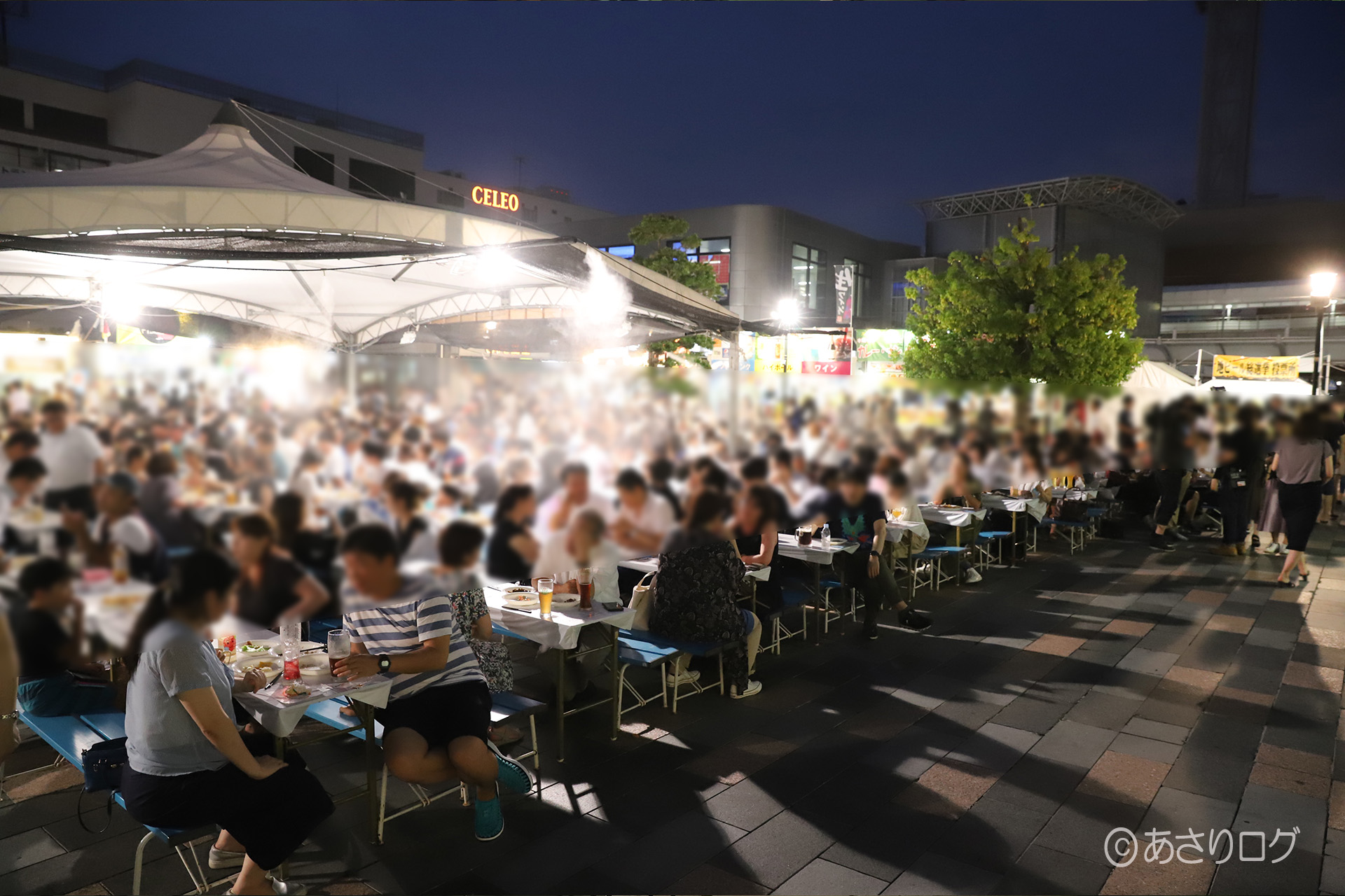 Beer garden at the north exit of Kofu Station